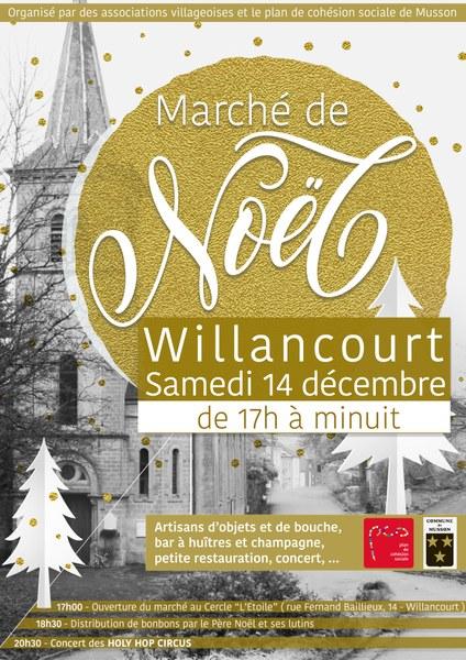 affiche marche noel Willancourt 2019