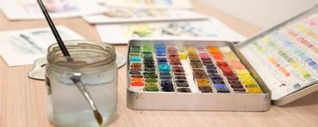 Stage d'aquarelle et de peinture acrylique
